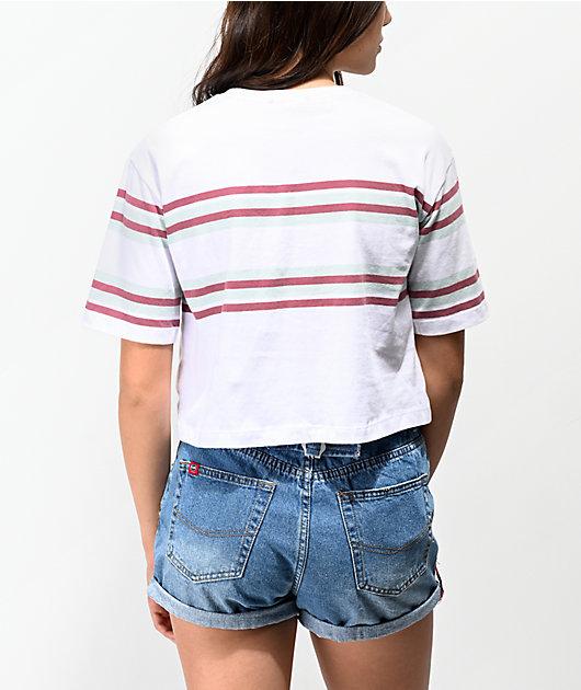 Unionbay Jane camiseta corta en blanco de rayas
