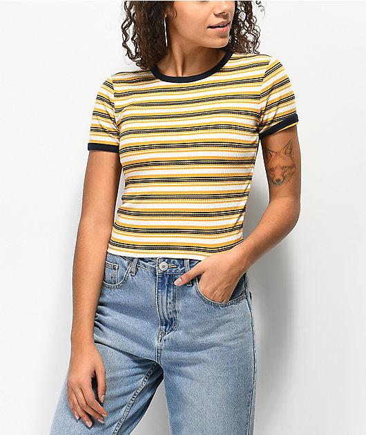 Unionbay Jones Yellow Striped T-Shirt