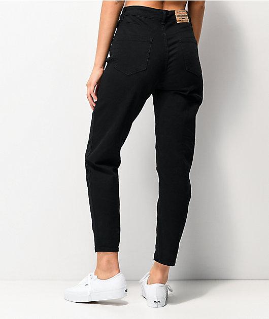Unionbay Julianne Black Denim Mom Jeans