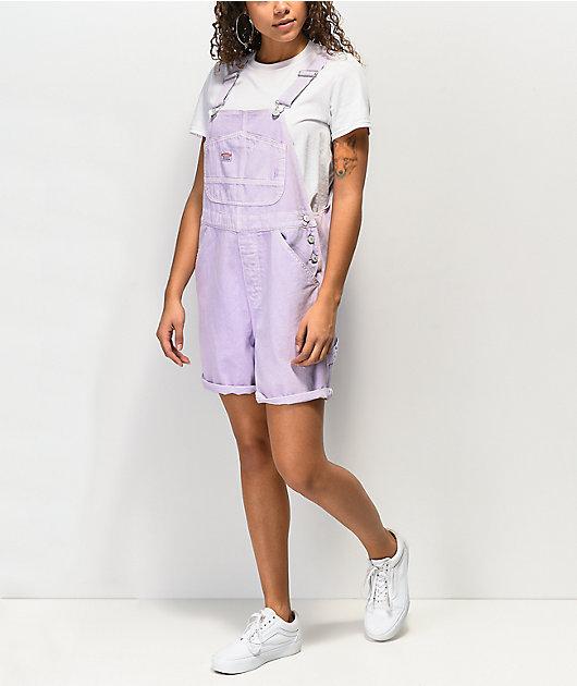 Unionbay Mario Lavender Denim Overall Shorts