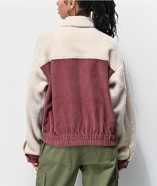 Unionbay Pink Corduroy Sherpa Jacket