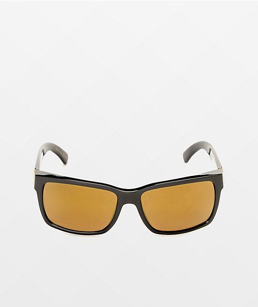 VONZIPPER Elmore Black Satin & Gold Sunglasses