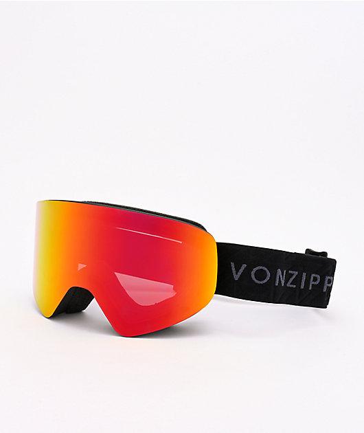 VONZIPPER Encore Black & Fire Chrome Snowboard Goggles