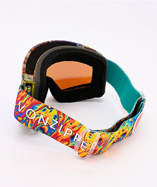 VONZIPPER John J Cleaver Tie Dye Gloss & Quasar Chrome Snowboard Goggles
