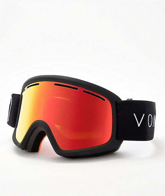 VONZIPPER Kid's Trike Fire Chrome Black Satin Snowboard Goggles