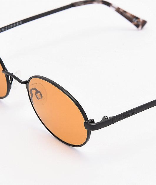 VONZIPPER Scenario Black Satin Amber Sunglasses