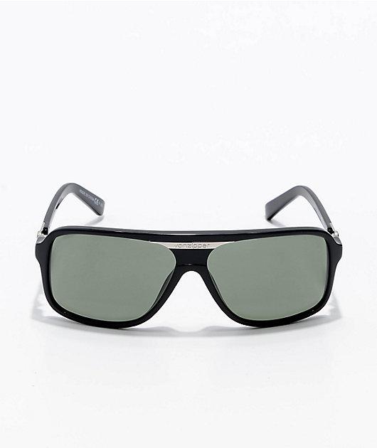 VONZIPPER Stache Black Gloss & Grey Sunglasses