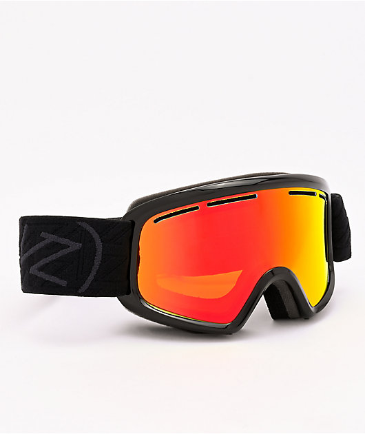 VONZIPPER Youth Trike Black Satin & Fire Chrome Snowboard Goggles