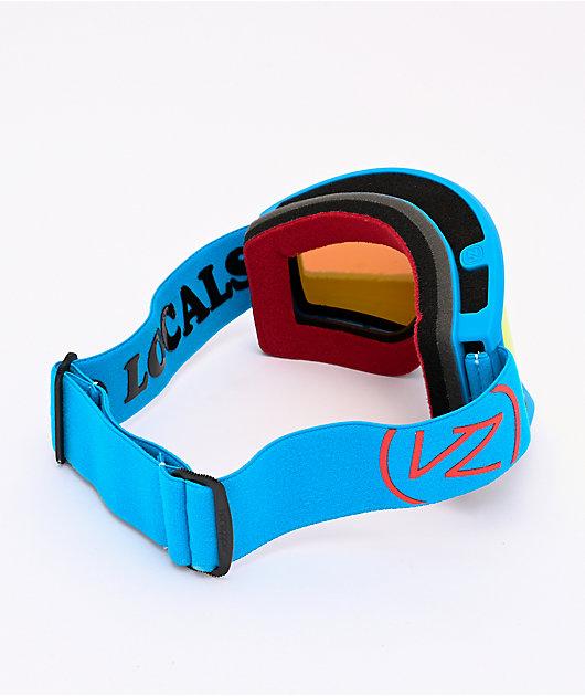VONZIPPER x Spring Break Cleaver Cyan Satin & Wildlife Fire Chrome Snowboard Goggles