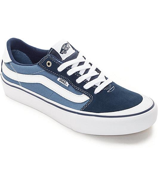 Vans 112 Pro zapatos de skate en azul y blanco (hombres)