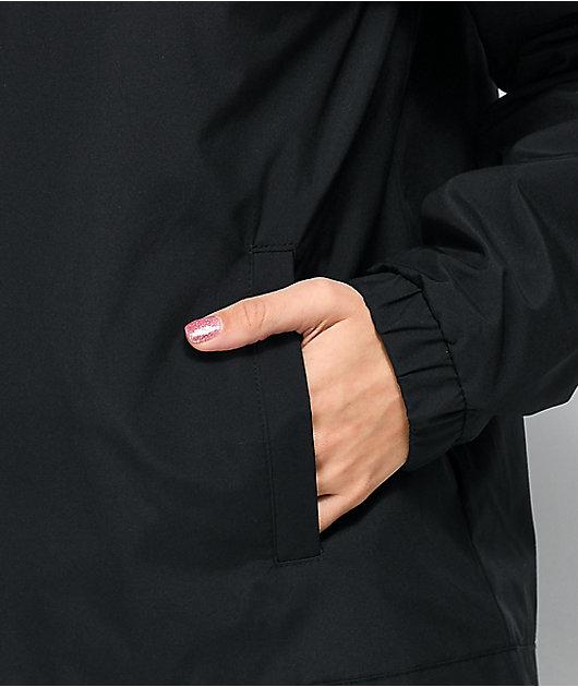 Vans After Dark chaqueta cortavientos negra con media cremallera