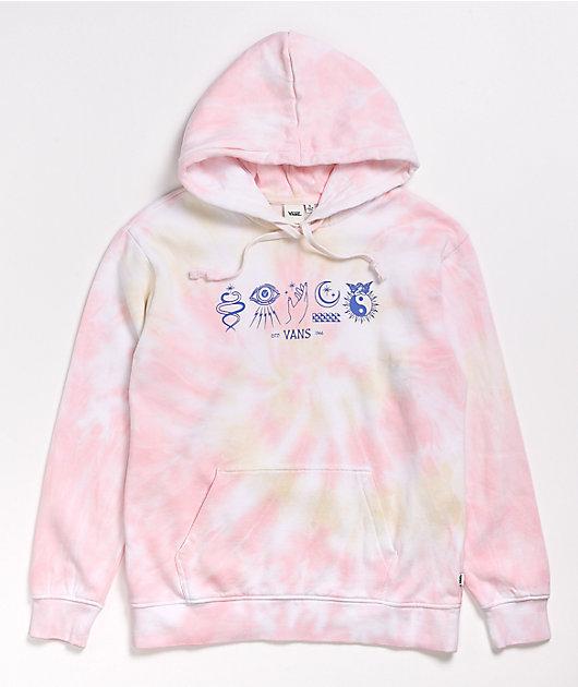 Vans Astro Flash Pink Tie Dye Hoodie