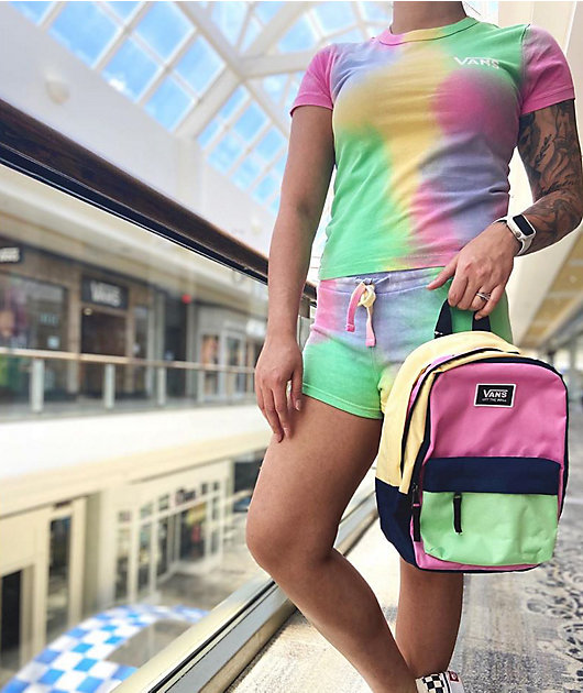 Vans Aura shorts de punto de tie dye multicolor