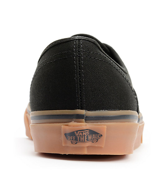 Vans Authentic Black & Gum Skate Shoes