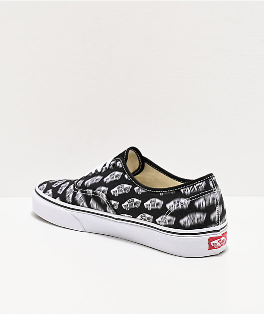 Vans Authentic Blur Boards Black & White Skate Shoes