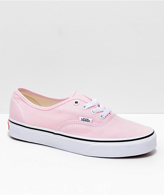pink and white vans