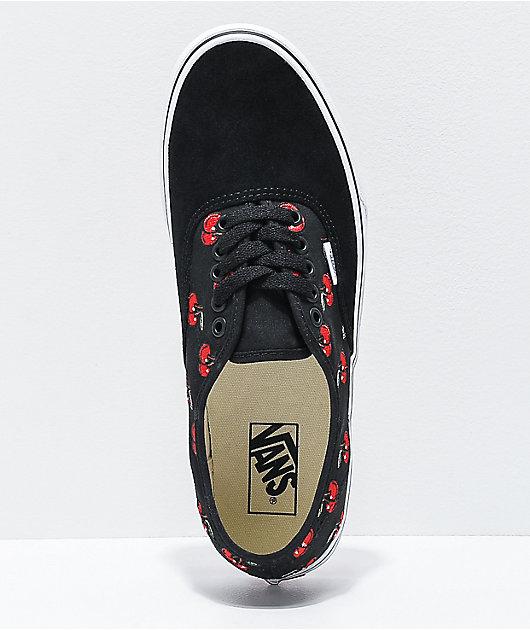 Vans Authentic Cherries Black & White Skate Shoes