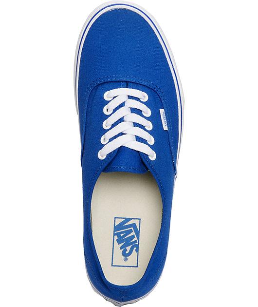 Vans Authentic Classic Blue Skate Shoes