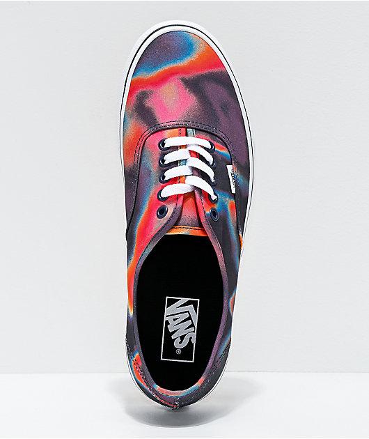 Vans Authentic Dark Aura Multi & True White Skate Shoes