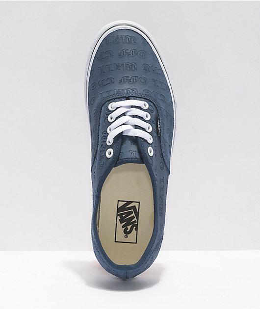 Vans Authentic Deboss OTW Dress Blues Skate Shoes