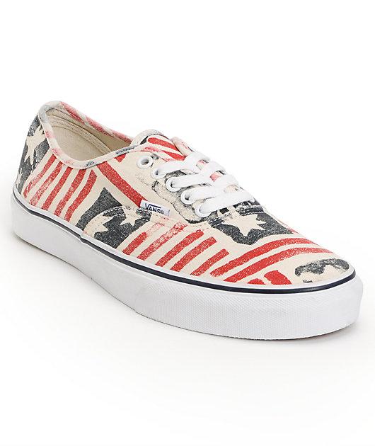 Vans Authentic Doren Retro Flag Skate Shoes