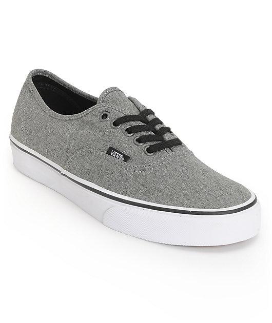 Vans Authentic Grey \u0026 White Skate Shoes