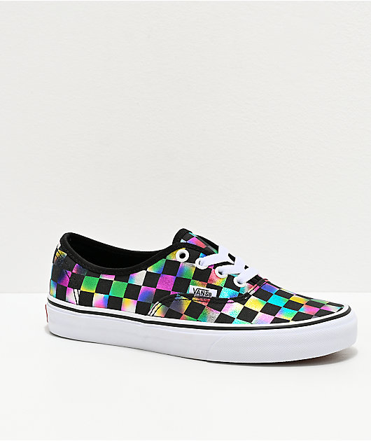 Vans Authentic Iridescent Checkerboard Skate Shoes