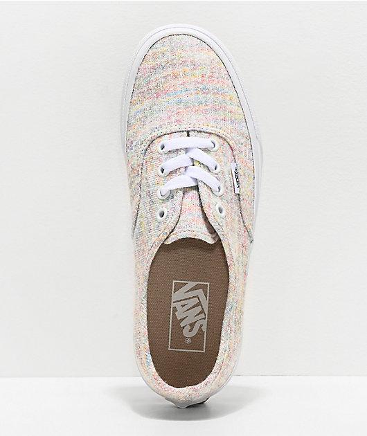 Vans Authentic Jersey Rainbow Skate Shoes