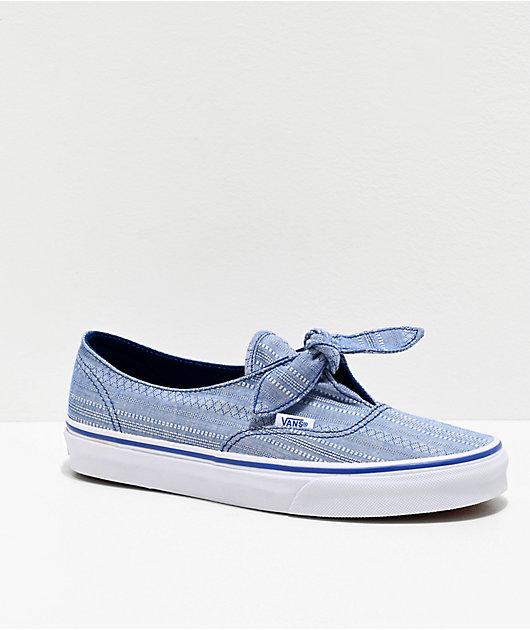 Vans Authentic Knotted Lace zapatos de skate de cambray azul