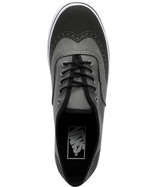Vans Authentic Lo Pro Grey Printed Oxford Shoes | Zumiez
