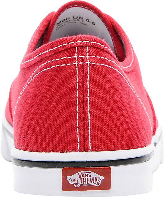 Vans Authentic Lo Pro Red Shoes | Zumiez