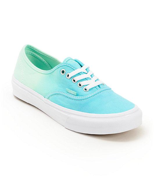Vans Authentic Mint Ombre Shoes   Zumiez