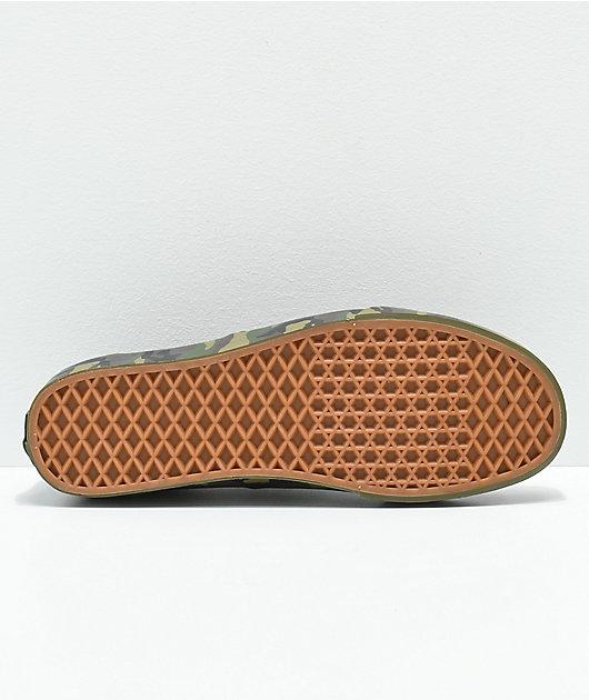 Vans Authentic Mono Olive Camo Skate
