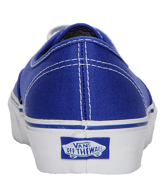 Vans Authentic Royal Blue Skate Shoes