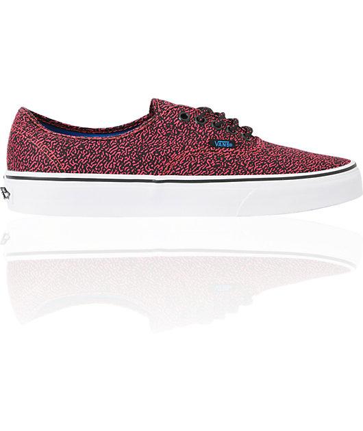Vans Authentic Speckle Rouge Red Skate Shoes | Zumiez