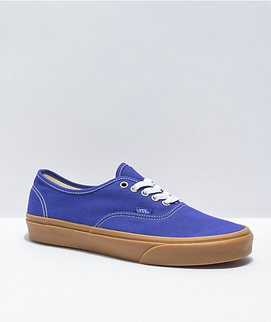 Vans Authentic Spectrum Blue, White, & Gum Skate Shoes