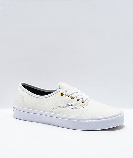 Vans Authentic True White Leather Skate