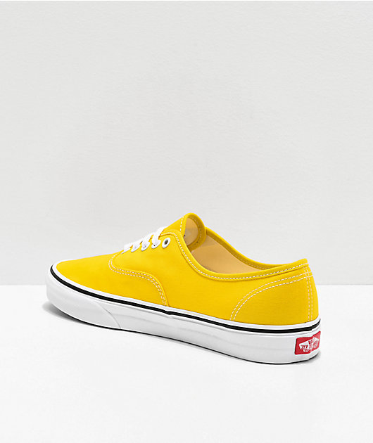 Vans Authentic Vibrant Yellow & White Skate Shoes