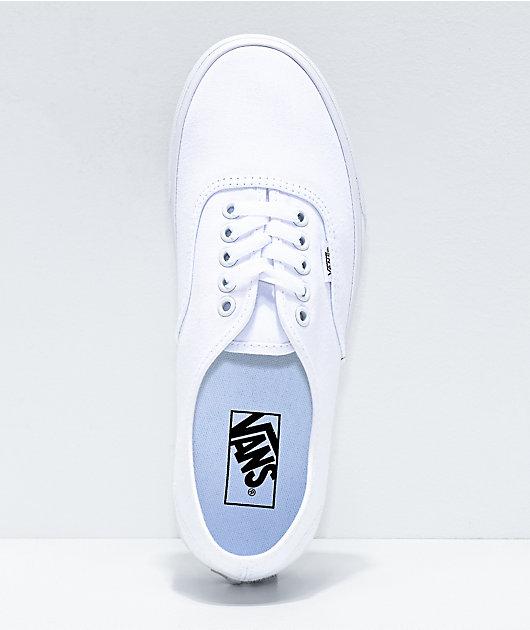 Vans Authentic White Canvas Skate Shoes