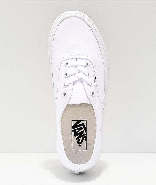 Vans Authentic zapatos de skate blancos de plataforma