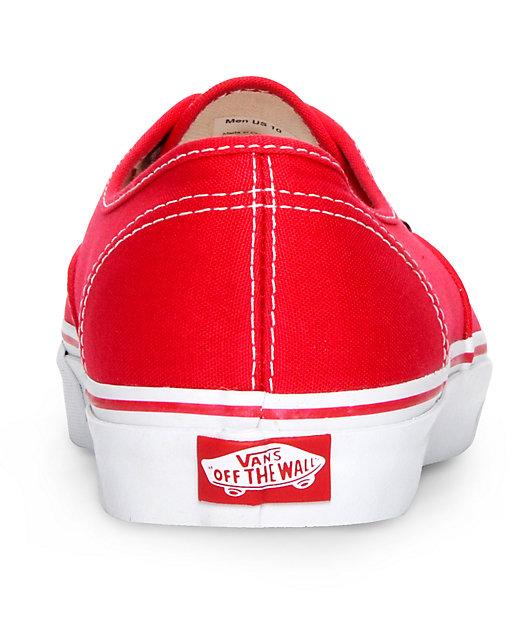 Vans Authentic zapatos de skate en rojo