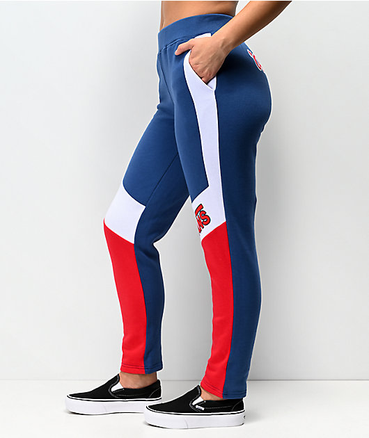 Vans BMX Colorblock Red, White & Blue Sweatpants