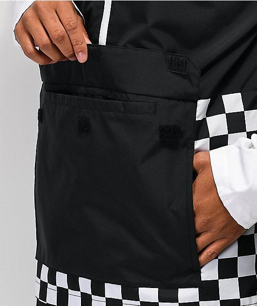 Vans BMX Off The Wall chaqueta anorak negra y blanca