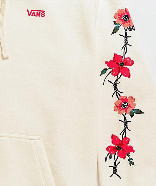 Vans Barbed Floral White Hoodie