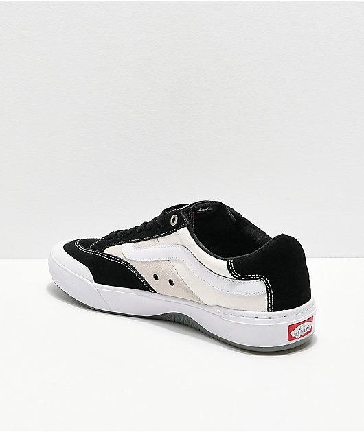 Vans Berle Pro Black & White Suede Skate Shoes
