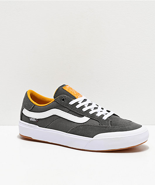 Vans Berle Pro Pewter & Mango Mojito Suede Skate Shoes