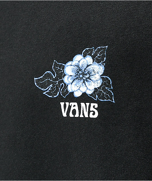 Vans Blue Floral Black T-Shirt