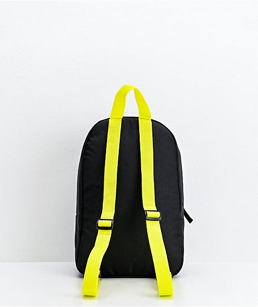 Vans Bounds Black & Neon Yellow Mini Backpack
