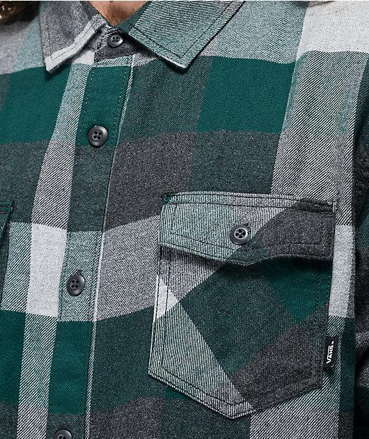 Vans Box Trekking Green & Grey Flannel Shirt