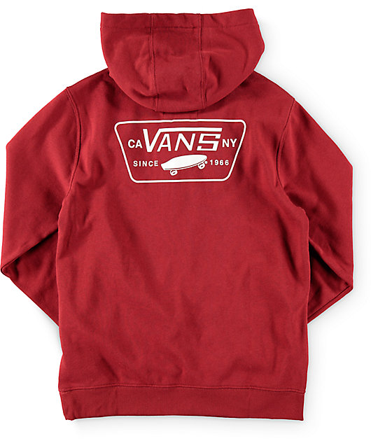 Patched Burgundy Pullover Hoodie | Zumiez